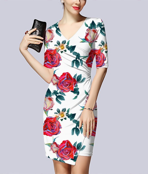 多姿玫瑰元素花服饰