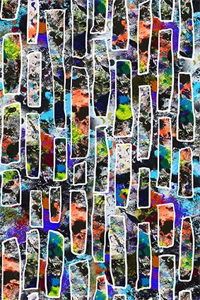 色彩斑斓花饰字体