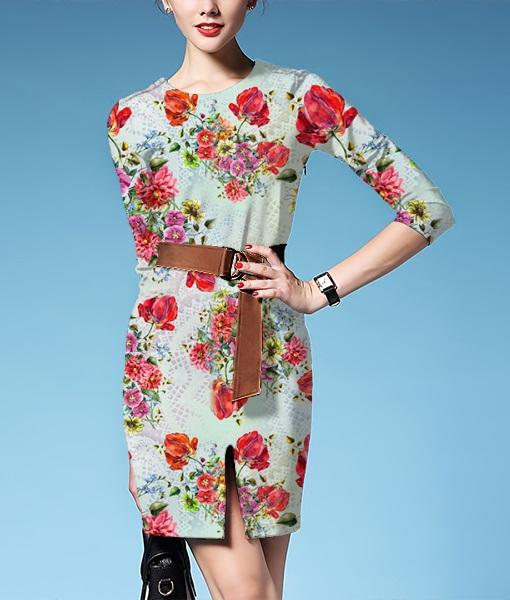 提花布纹绚丽时尚花饰