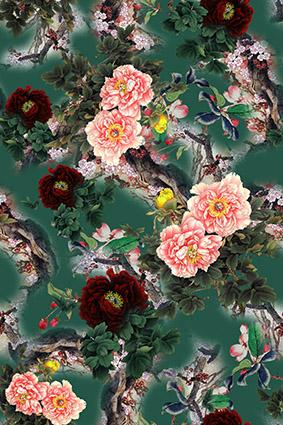 鸟语花香植物花窗