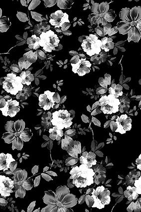 文艺灰底元素花朵