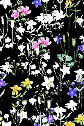 植物白花元素花饰