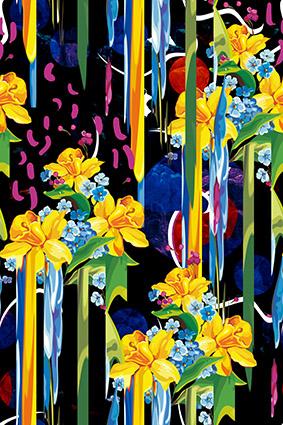 潮流矢量植物花丛