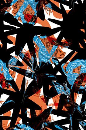 几何色块抽象图案