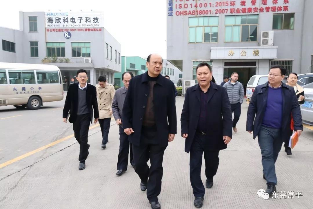 东莞市政府杨晓棠领导莅临广东体育app万博下载参观指导工作