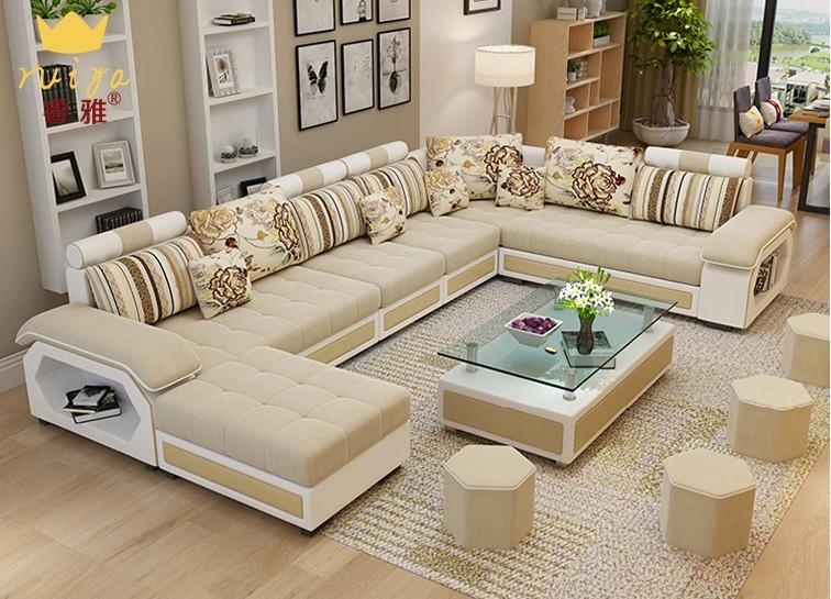 沙发 大户型沙发 客厅布艺沙发组合大户U型沙发整装储物沙发组合 可拆洗 拍下备注颜色告知客服