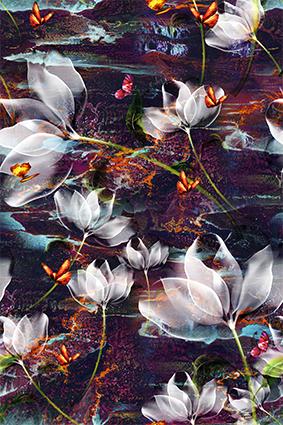 透视花色抽象图案