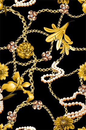 黄色铁链黄色花卉