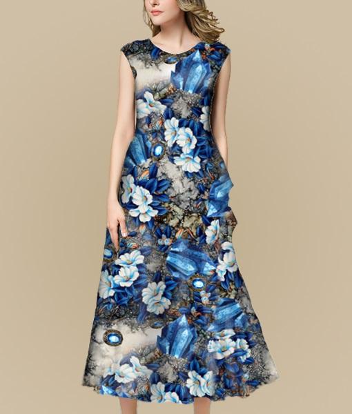 水晶宝石蓝色花朵