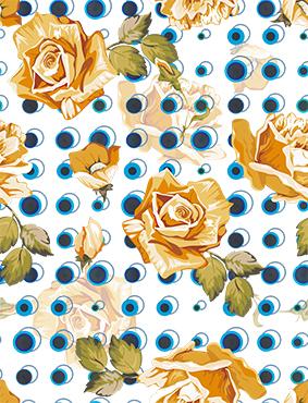 瞳孔圆点矢量花朵