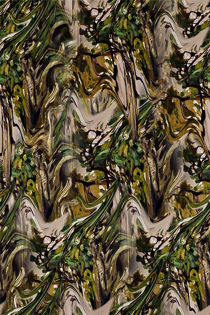 流体抽象水彩图