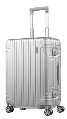 新秀丽经典铝箱登机行李箱  20寸-银色