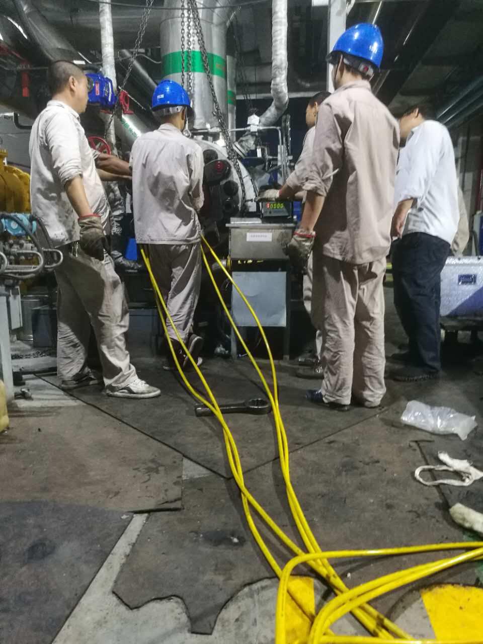拜尔公司售后人员冒酷暑为华电某电厂服务