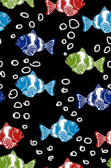 矢量气泡卡通金鱼