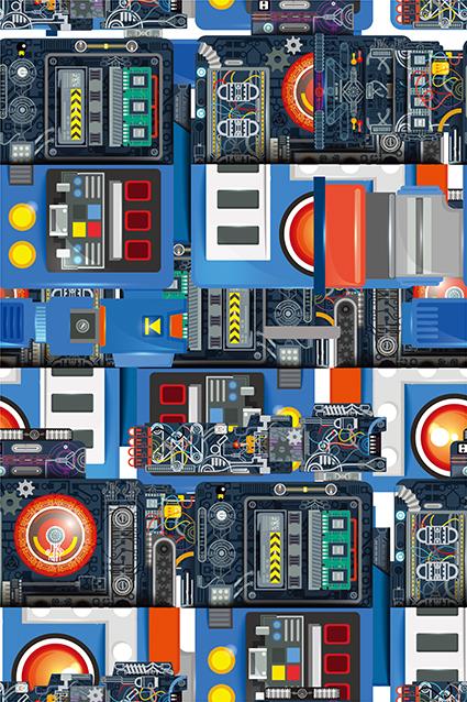 机械电子版分布图