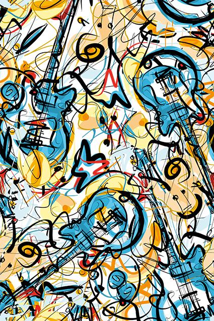 艺术乱线素描吉他