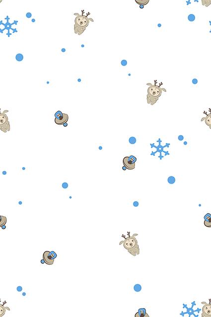 幼崽可爱绵羊图案