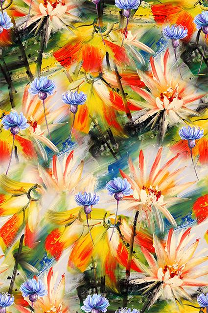 炫彩涂鸦美艳花卉