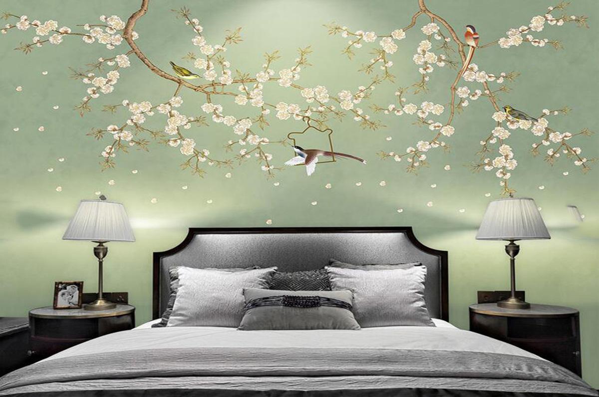 手绘墙纸壁画016153714