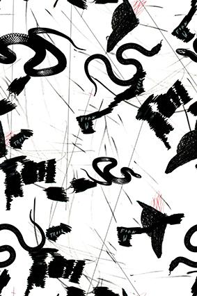 黑色毒蛇创意绘画