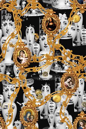 花瓶头像镜框画像