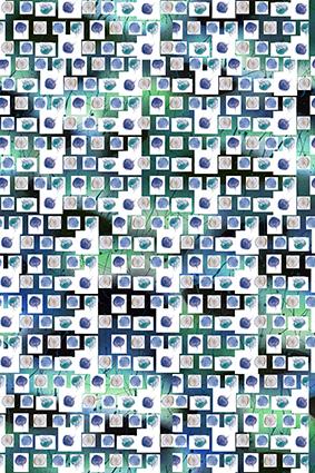 立体方格水母图案