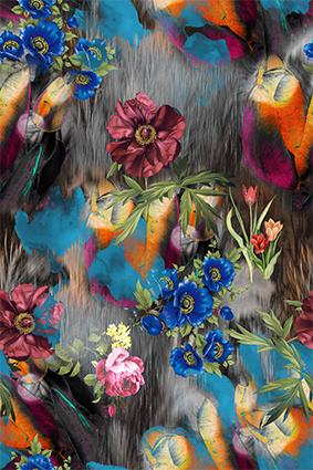 皮毛底元素手绘植物花