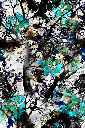 植物树梢抽象花魁