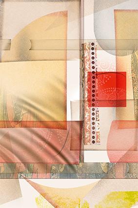 布纹色彩花窗