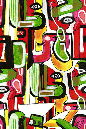 多彩颜料艺术涂鸦