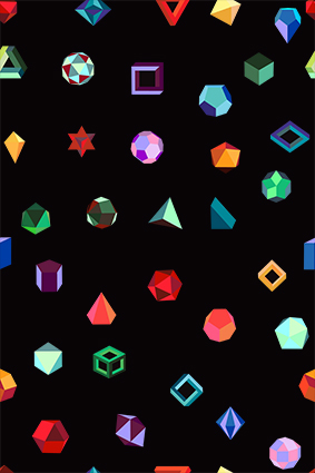 多色立体结构宝石