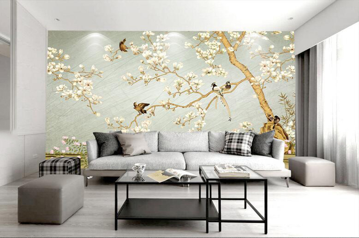 手绘墙纸壁画316003003