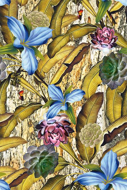 黄色芭蕉叶植物花