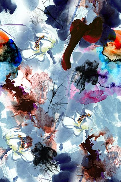抽象色彩水彩服饰