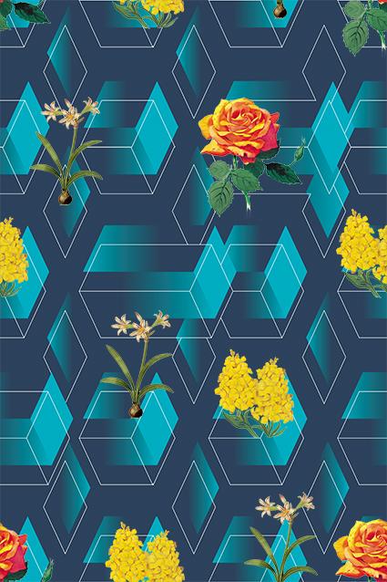立体几何方格图案