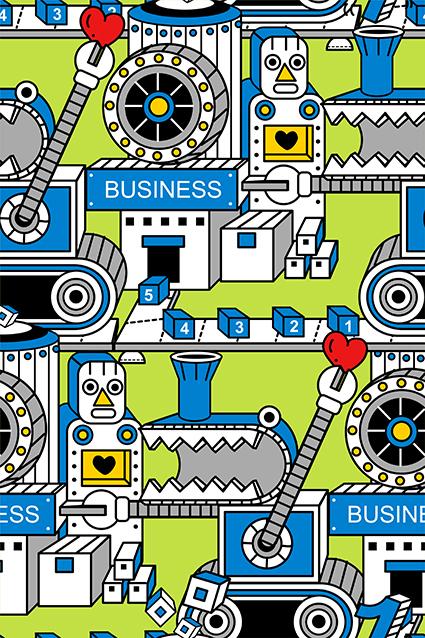 卡通机械机器人