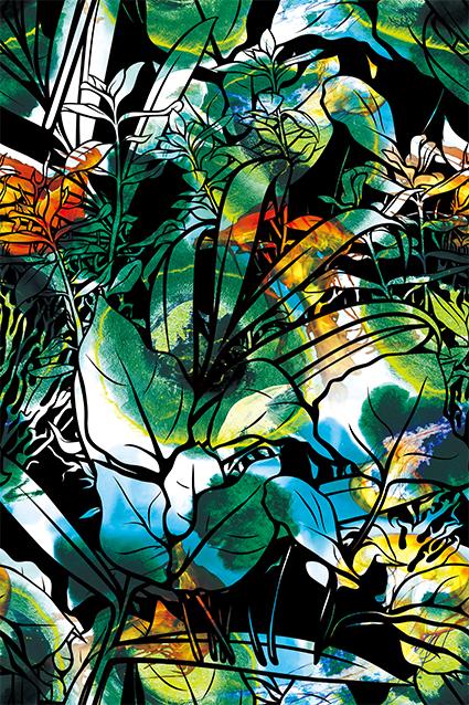 抽象元素滤镜花叶