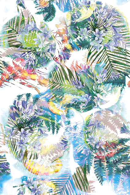茂密装饰植物花窗