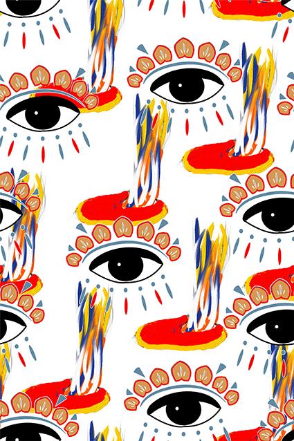 多色眼球创意图绘