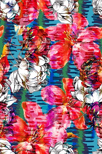 斑斓秀丽色彩图案