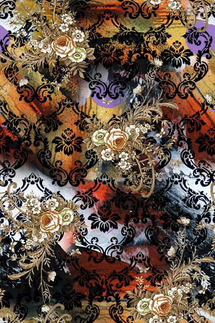 黑色花边抽象图绘