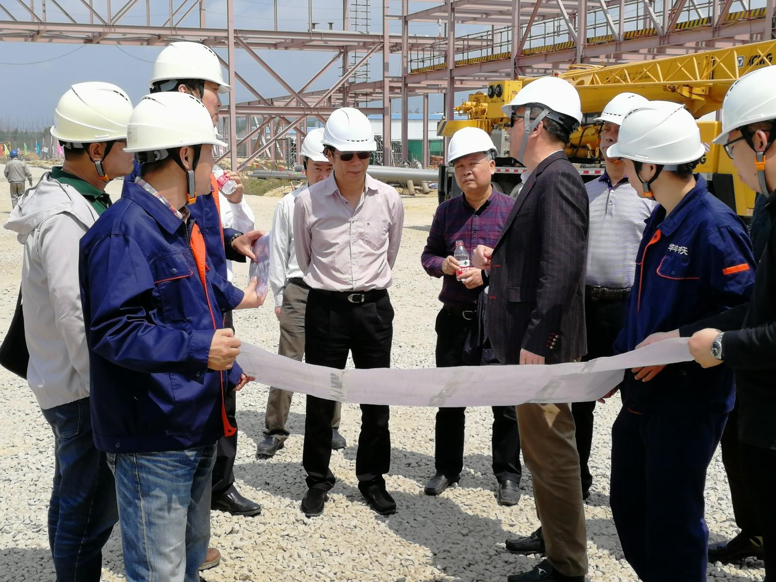 潮州市人大常委领导一行到华丰中天LNG项目实地调研