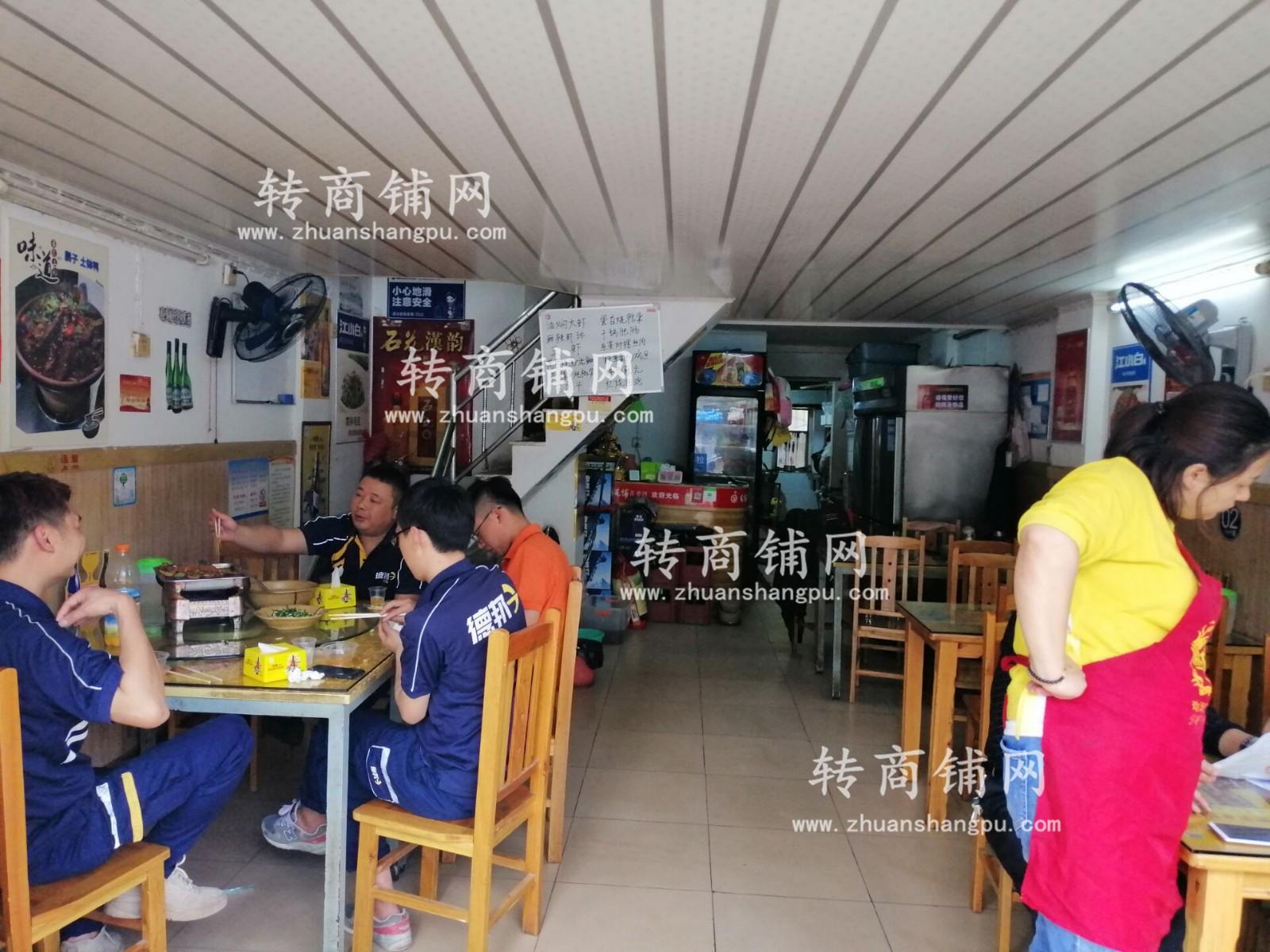 蔡甸小区口临街餐馆急转