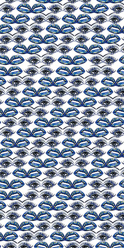 睫毛五角星花饰图绘