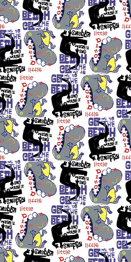 卡通迷你可爱恐龙图案
