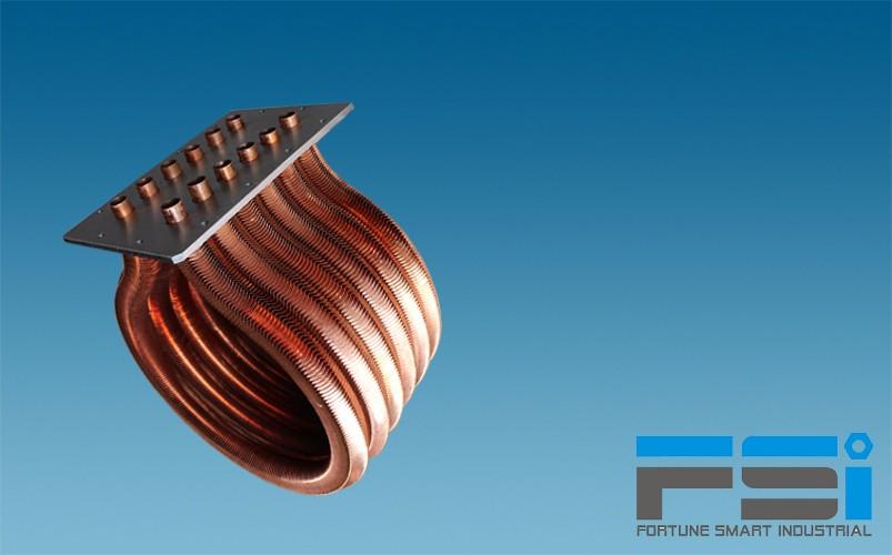 Copper OMEGA Heat Exchanger
