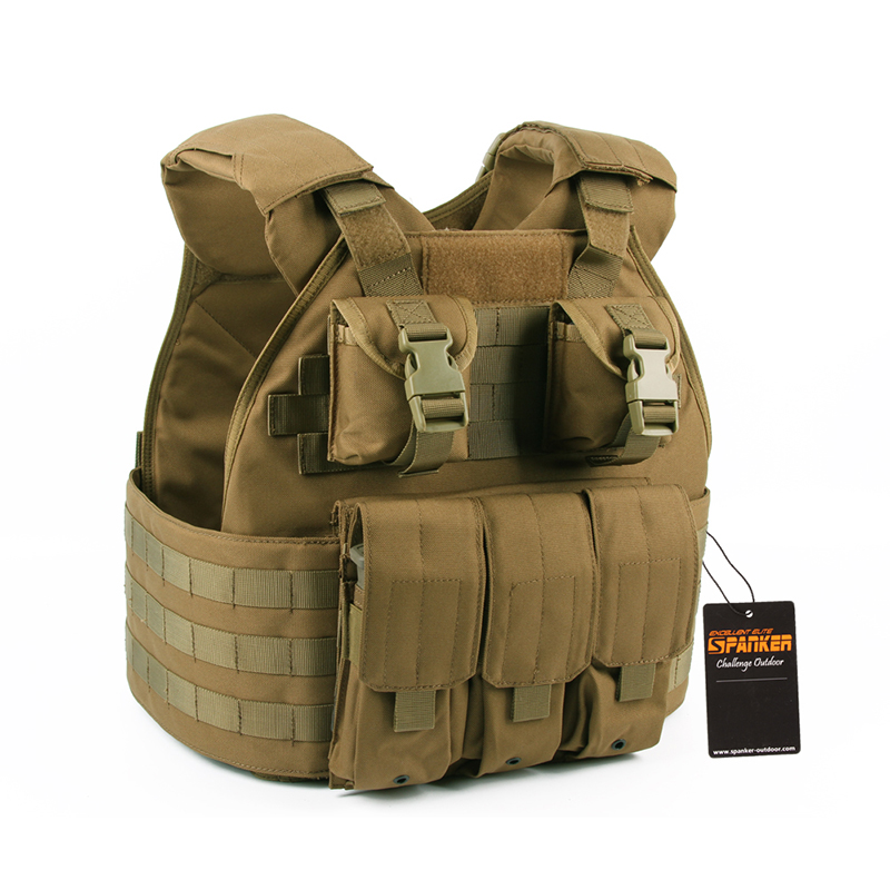 c01689a8e442f Outdoor Hunting Military Tactical Molle SPC Vest USMC Style equipment with  Triple M4 Pouch & 2