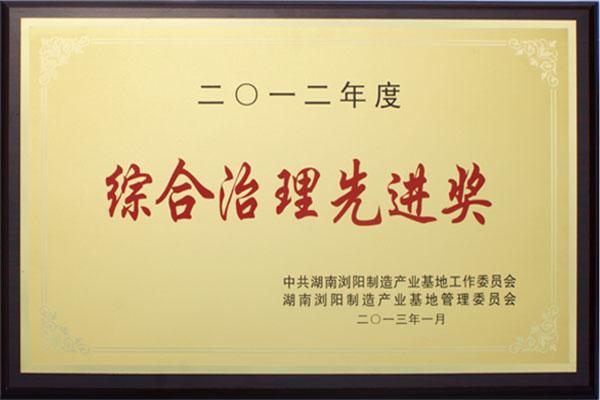 综合治理先进奖2012