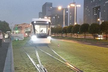 南京河西有轨电车道岔