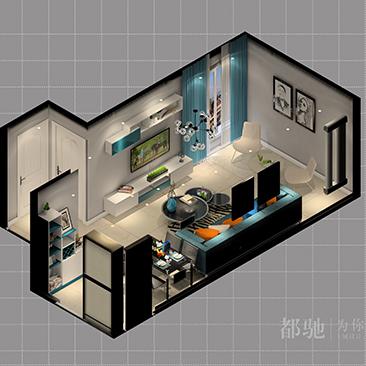 现代简约客厅电视柜效果图